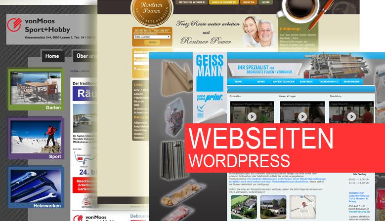 Wordpress websiten, einfach und schnell