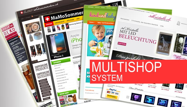 Multi Webshop Systems, mehrere shops, einfach verwalten